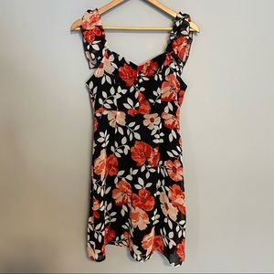FOREVER 21 floral sleeveless silky dress